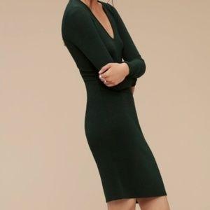 "Aritzia Wilfred Free ""Estelle"" Bodycon Black Dress"